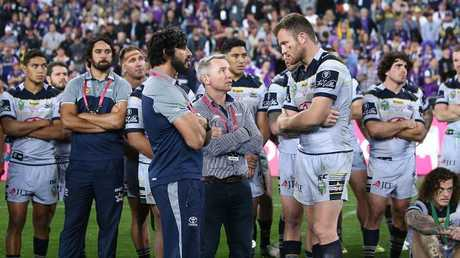Cowboys coach Paul Green has not yet addressed with his team why they fell short in last year's grand final loss to the Storm. Photo: Mark Metcalfe