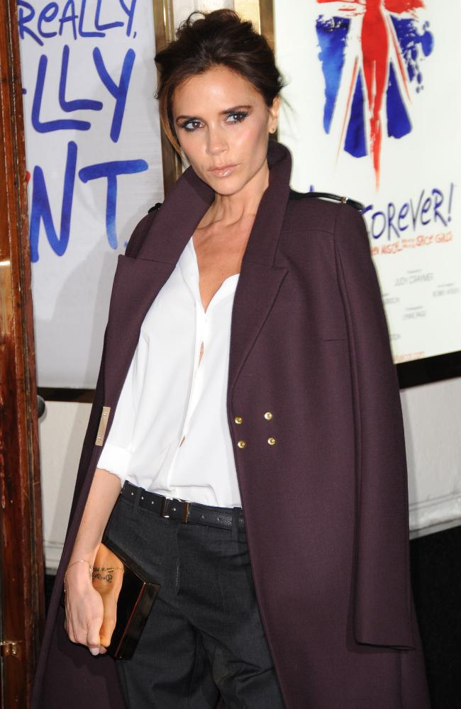 Solo Spice: Victoria Beckham attends 'Viva Forever', without her Spice band mates.