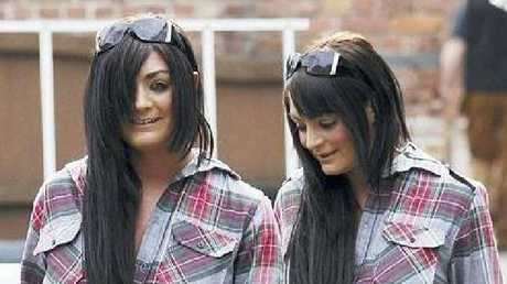 Ms Alkhatib and her twin sister, who also made porn films. Picture: Cavendish Press
