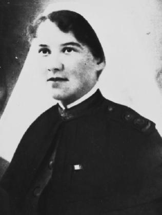 Sister Elizabeth Kenny in 1917, when she was a nurse on the Western Front during World War I. Picture: Supplied