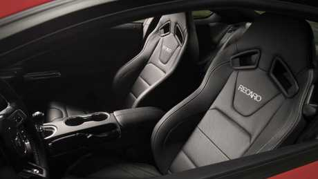 Recaro sports seats can be optioned in the 2018 Ford Mustang. Picture: Supplied.