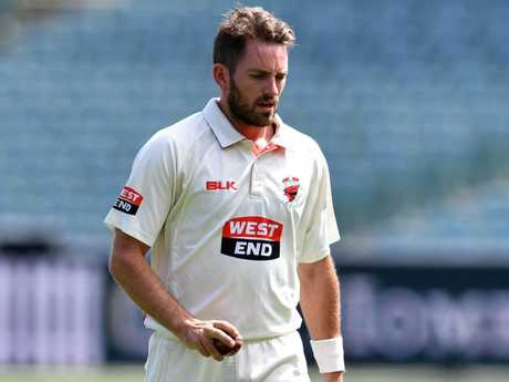 Chadd Sayers went wicketless against Victoria.