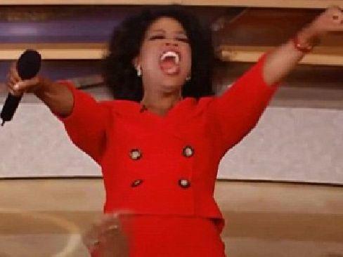 The moment where Oprah screamed