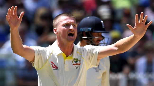 Jackson Bird suffered a hamstring injury playing for Tasmania.