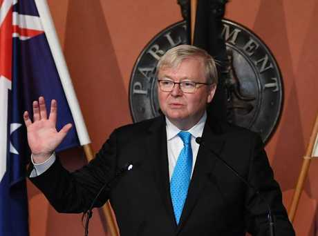 Former prime minister Kevin Rudd introduced the Closing the Gap strategy in 2008. Picture: David Moir / AAP