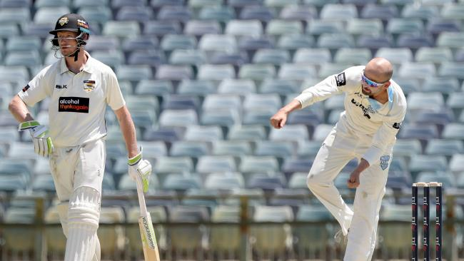 Nathan Lyon took four wickets against Western Australia.