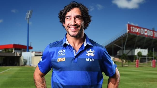 Johnathan Thurston makes his return to the Cowboys team in Saturday night's trial against the Wests Tigers in Cairns. Photo: Zak Simmonds