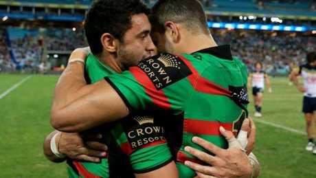 Johnston and Inglis have a close relationship at the Rabbitohs.