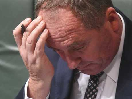 It has been a tough week for Deputy Prime Minister Barnaby Joyce. Picture: Lukas Coch