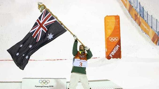 Australia's Matt Graham celebrates his silver medal win