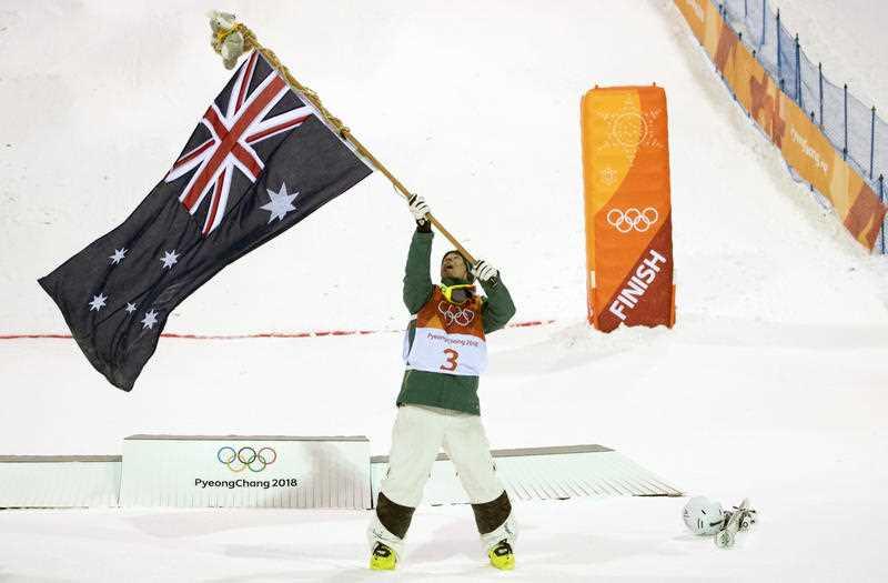 Australia's Matt Graham celebrates his silver medal win