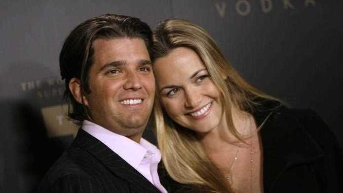 Donald Trump Jr., left, and his wife Vanessa arrive for the Trump Vodka launch party by Drinks America in early 2017.