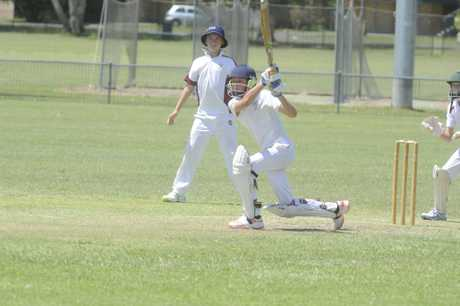Will Moran batting for Lower Clarence in the North Coast Cricket Council 2017/18 Inter-District Under-14 grand final between Lower Clarence and Nambucca Bellingen at Barry Watts Oval in Maclean on Sunday, 11th February, 2017.Photo Bill North / Daily Examiner