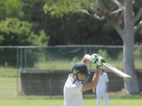 Kai Waterson batting for Lower Clarence in the North Coast Cricket Council 2017/18 Inter-District Under-14 grand final between Lower Clarence and Nambucca Bellingen at Barry Watts Oval in Maclean on Sunday, 11th February, 2017.Photo Bill North / Daily Examiner