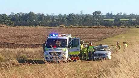 CRASH: Emergency services are on the scene of a head-on crash on the Bundaerg-Gin Gin Rd.