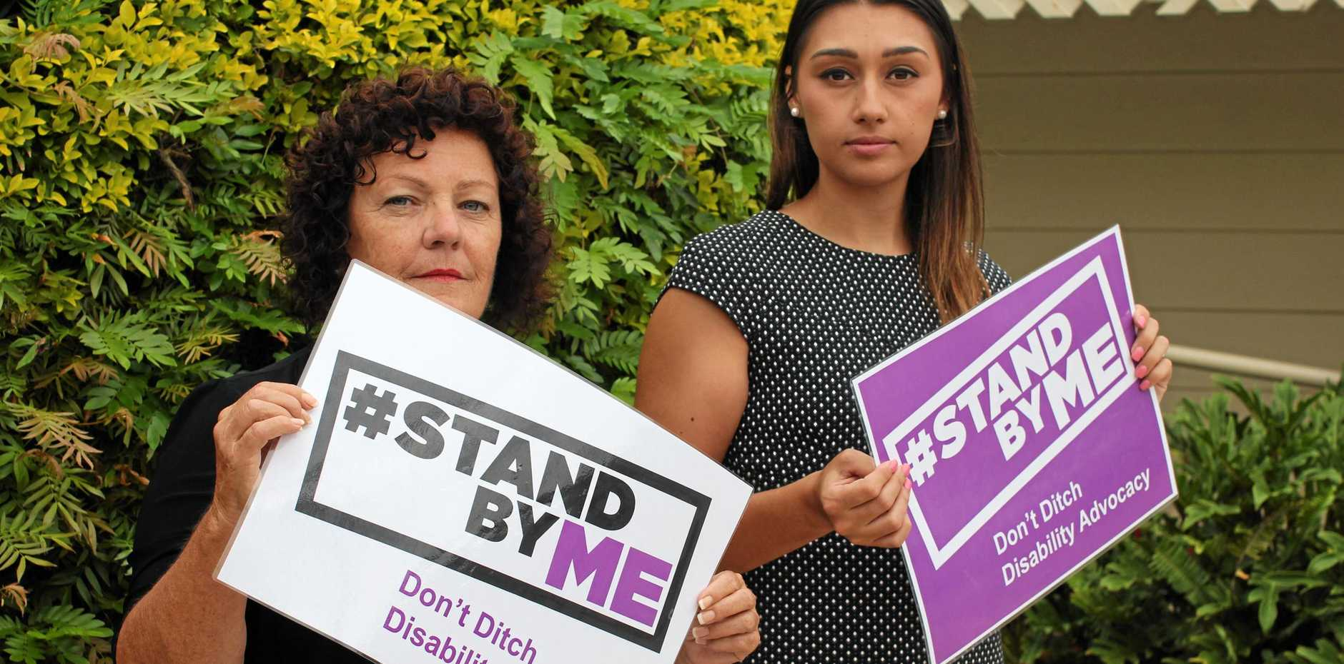 #STANDBYME: Disability Advocacy's Vanessa Smith and Olivia Agosti could lose their jobs as the NSW Government prepares to cut funding to disability advocacy services following the roll out of the NDIS.