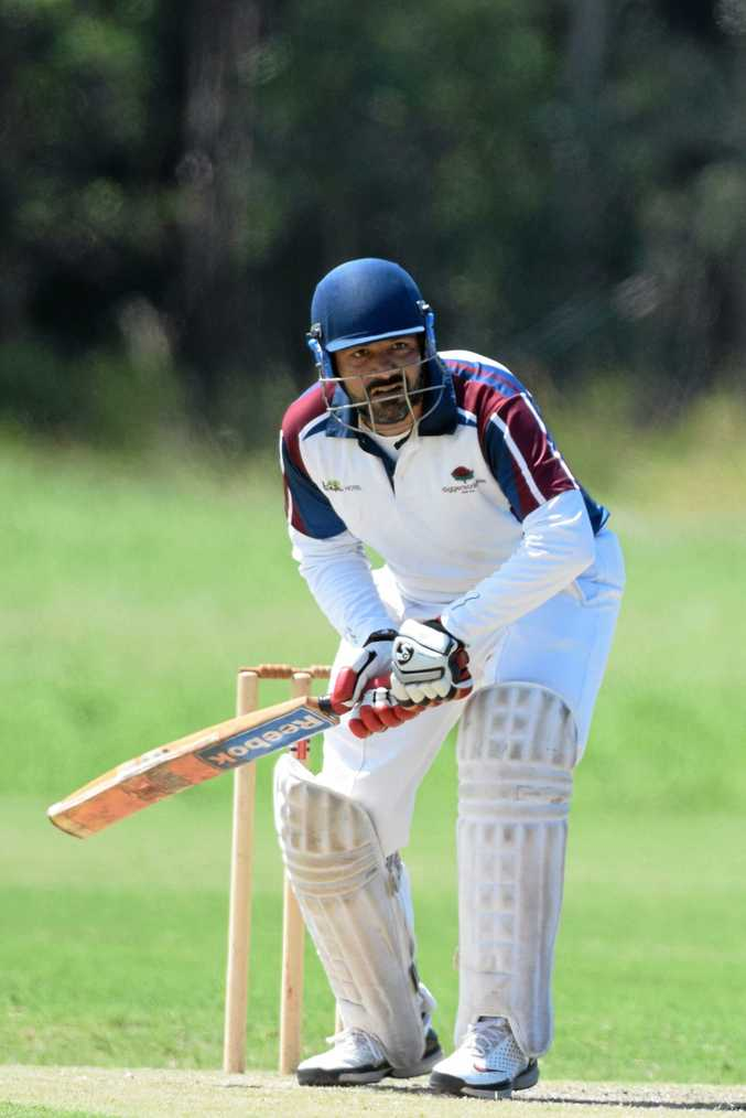 LONE HAND: Russell Gardner was the standout batsman in Coffs Harbour's loss in the interdistrict final against Nambucca Valley.