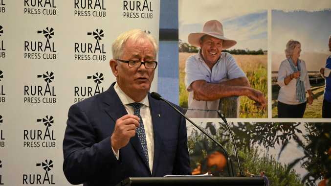 TRADE TALK: Former Minister for Trade and Investment Andrew Robb at the Rural Press Club meeting in Brisbane.