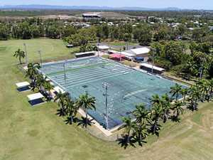 DRONE VIDEO: Rocky's turf rollout has the Comm Games touch