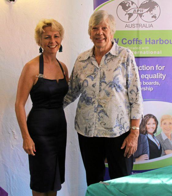 STEPPING FORWARD: Coffs Harbour BPW president Kim Connolly with guest Dr Rosemary Hepworth.