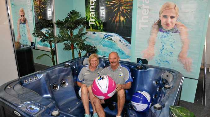 STORE OF KNOWLEDGE: Craig Gibbs and Kim Ragel are thrilled to open the doors at Aquatic Pool & Spa Services in Yeppoon