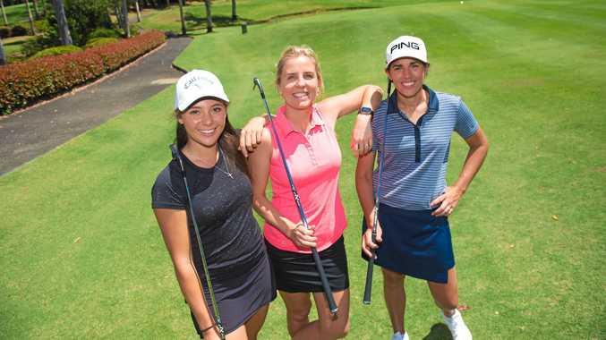 Launching the Australian Ladies Classic to played at Bonville Golf Resort were top profile golfers Lizzie Elmassian, Emma De Groot and Nikki Garrett.