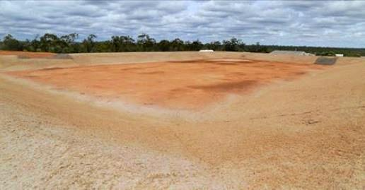 IT took 28 Olympic-size swimming pools of excavated and reused soil, but a $7.16 million project in Moranbah has been completed.