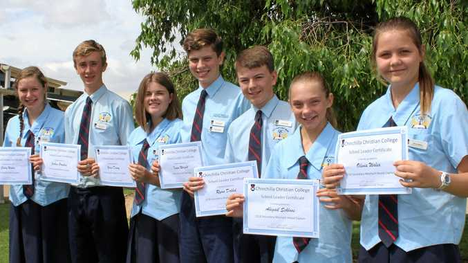 SCHOOL LEADERS: Chinchilla Christian College 2018 secondary school captains.
