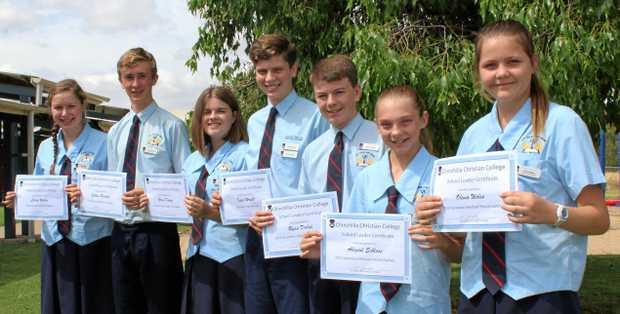 SCHOOL LEADERS: Chinchilla Christian College 2018 secondary school captains.