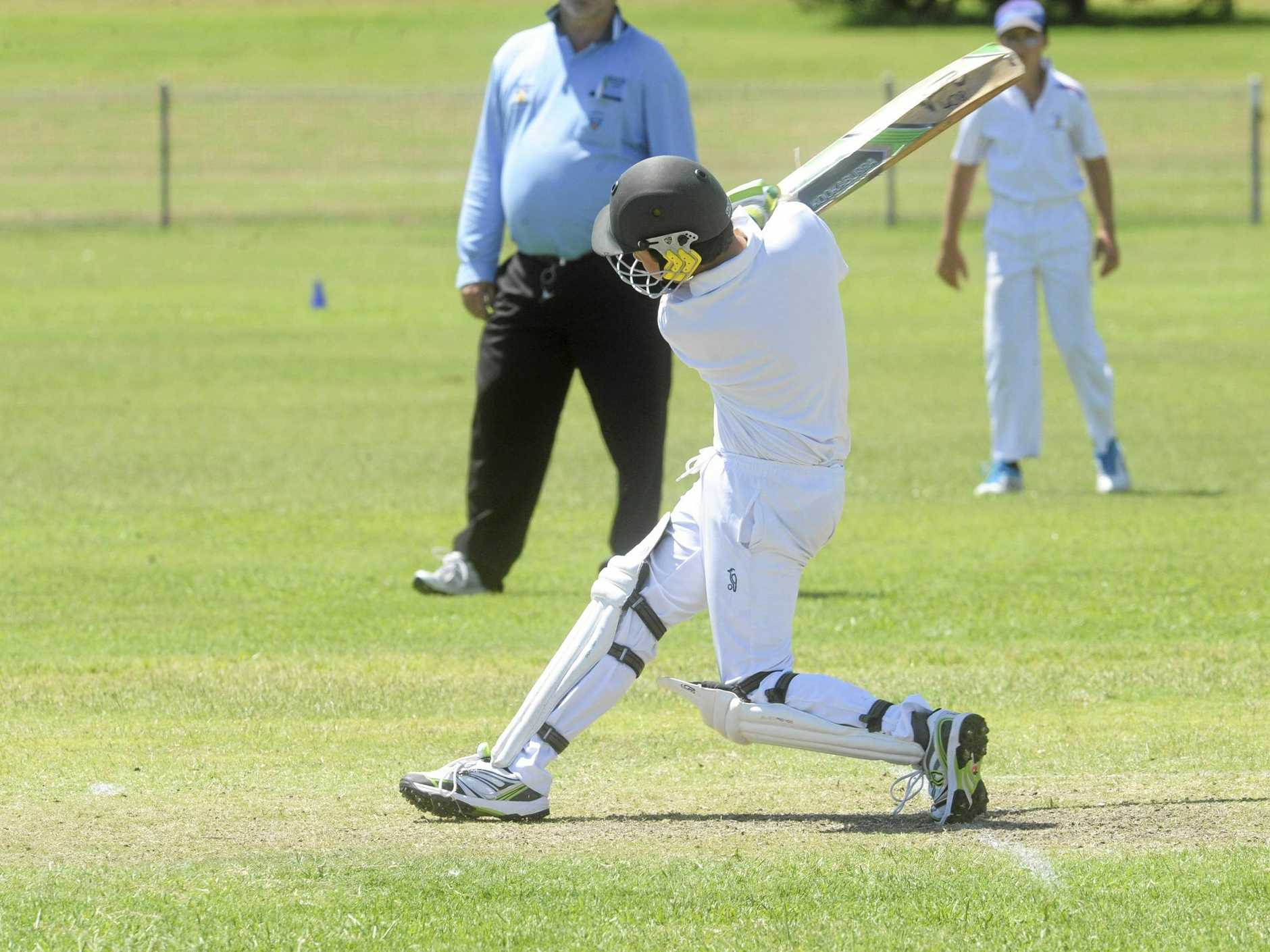 Troy Turner batting for Lower Clarence in the North Coast Cricket Council 2017/18 Inter-District Under-14 grand final between Lower Clarence and Nambucca Bellingen at Barry Watts Oval in Maclean on Sunday, 11th February, 2017.Photo Bill North / Daily Examiner