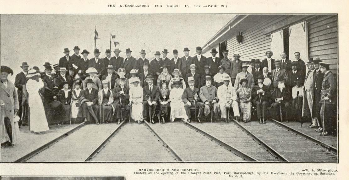 Official opening of the Urangan Pier on March 3, 1917.