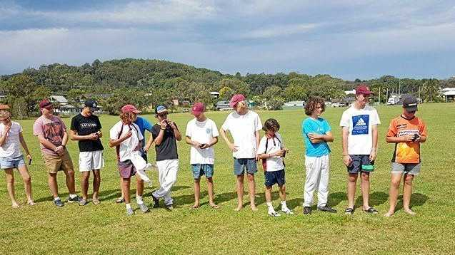 RUNNERS UP: The Clarence River side during presentations after the North Coast Inter-District Cricket grand final against Coffs Harbour in Sawtell.