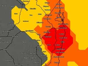 BoM warning: Damaging winds and large hailstones