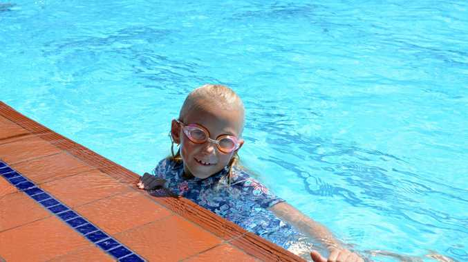 Sascha Riggs, 8, beat the heat at Laidley Swimming Pool as temps soared at the weekend.