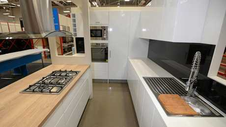 Kitchen displays at the new store.