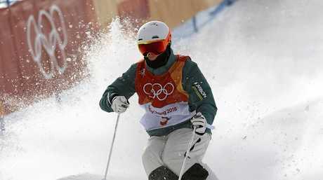 Matt Graham flies down the mountain at the Phoenix Snow Park.
