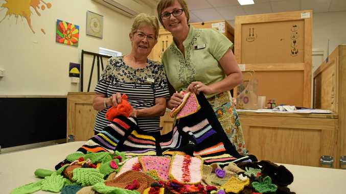 Yarnbombers Sue Marshman and Loretta Grayson need your help for this year's Yarntopia extravaganza.