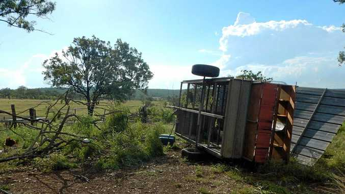 Sharon Trim's chook sheds were damaged in the wild storm on February 12.