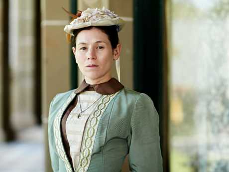 Yael Stone in character as  teacher Dora Lumley in Picnic at Hanging Rock.
