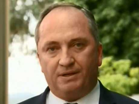 Barnaby Joyce claims Vikki Campion wasn't his partner while she was employed in his office. Picture: SkyNews Australia