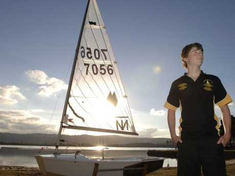 Matt Graham, aged 13 years, represented NSW at the QLD Sabot Sailing Championships in the 13 — 16 yrs division.