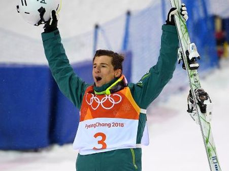 Matty Graham celebrates winning silver.