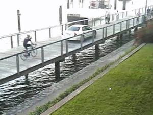 Bizarre reason woman's car ended up on boardwalk