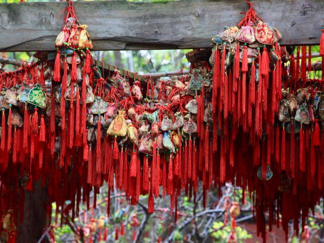 Religious offerings, Jinli Street, Chengdu, China. Picture: Fleur Bainger.