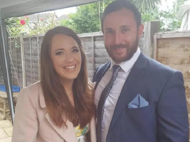 Ellie Milward, 29, and her husband Jonathan Udall were flown to hospital after surviving the crash. Picture: Supplied
