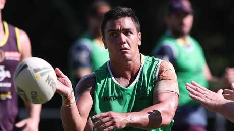 Kodi Nikorima at training. Picture: Peter Wallis