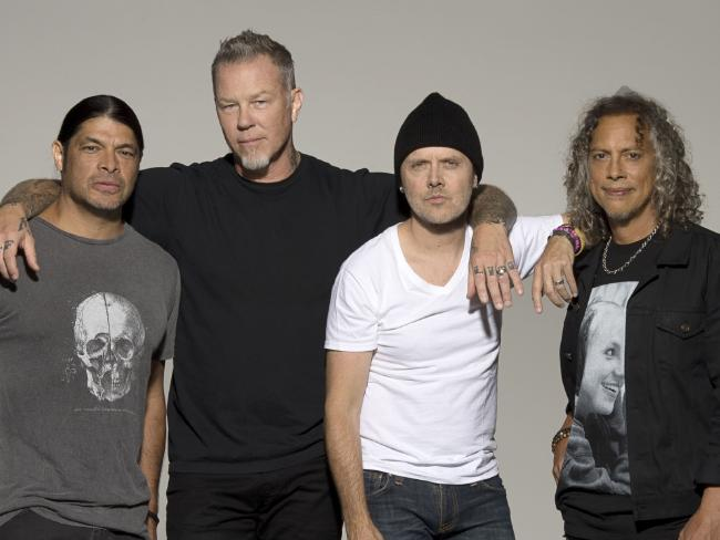 US metal gods Metallica are certain to land in the Hardest 100. Picture: Supplied.