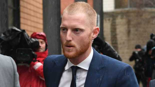 England cricketer Ben Stokes arrives at court in Bristol.