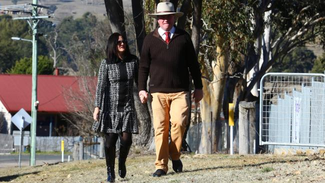 Deputy Prime Minister Barnaby Joyce and his wife Natalie in July, 2016. Picture: Britta Campion/The Australian