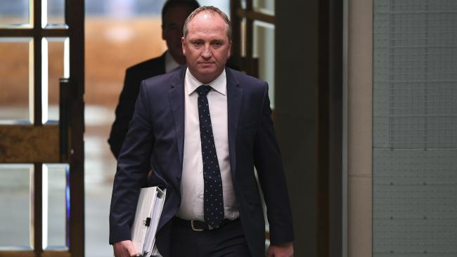 Deputy Prime Minister Barnaby arriving at Parliament House Question Time on Tuesday. Picture: Lukas Coch